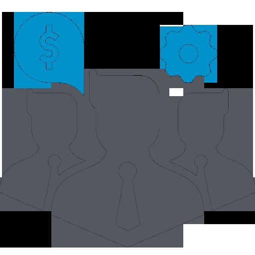 Иконка с бизнес сотрудниками