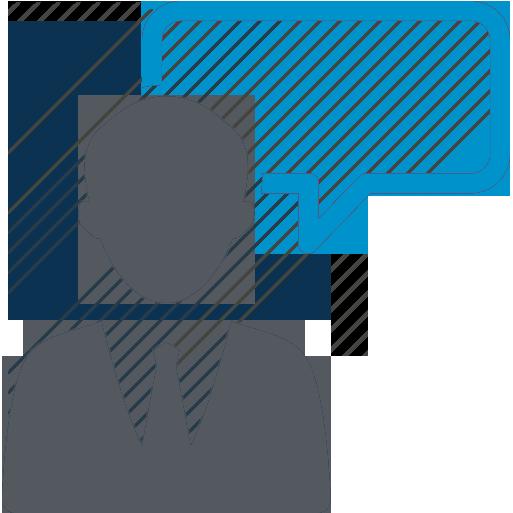 Иконка с бизнес консультантом