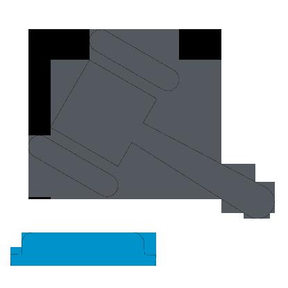 Иконка с молотком судьи