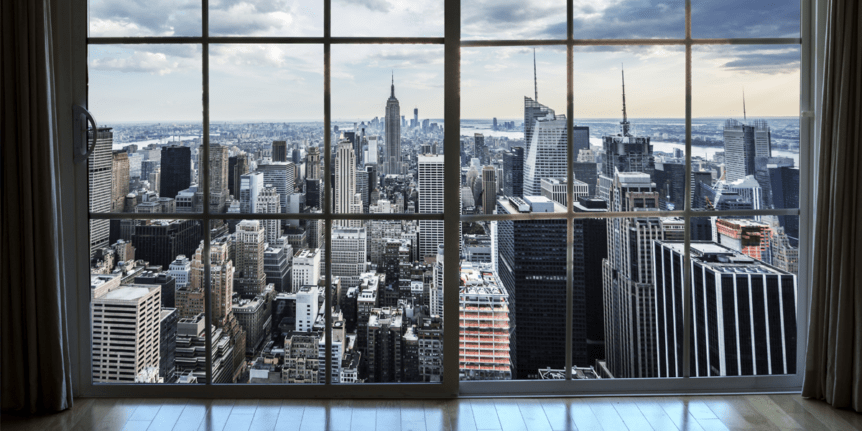 Вид из окна на Нью-Йорк