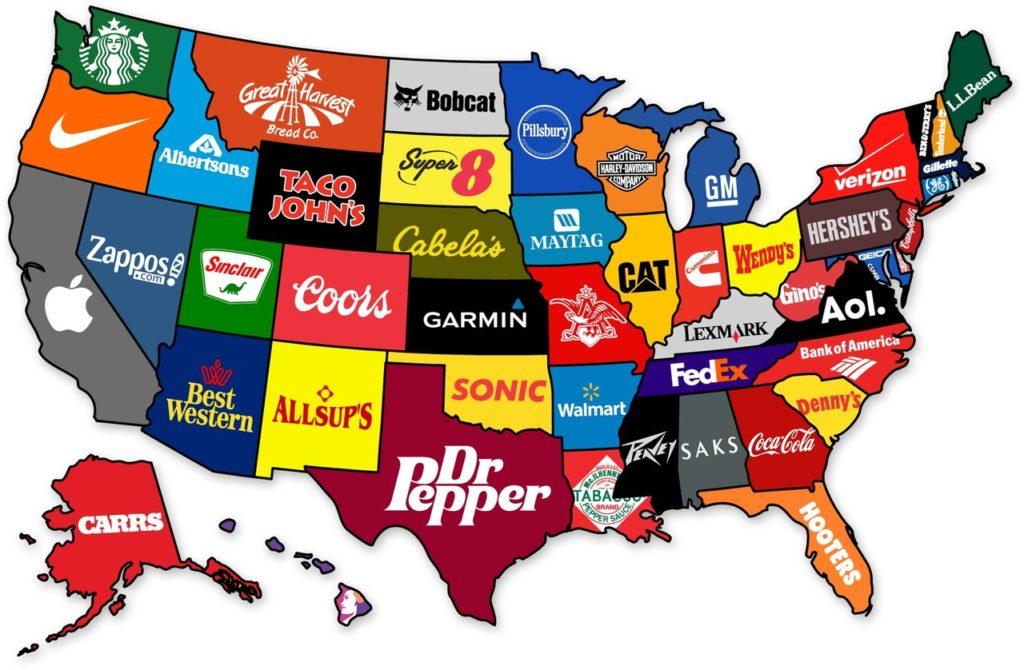 Карта предприятий США