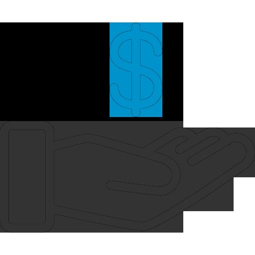 Иконка денег в руке